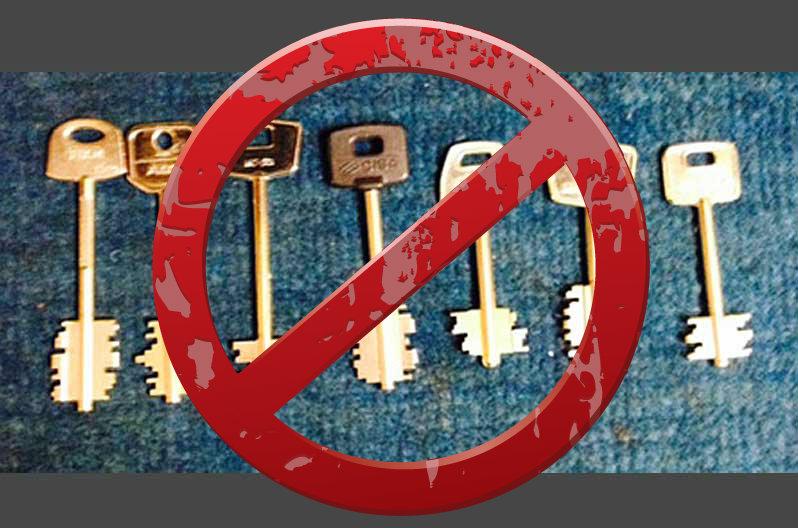 Cerraduras de llaves tipo gorja